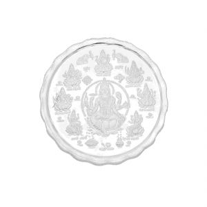 Jagdamba,Surat Diamonds Coins - 20 Grams Ashta Lakshmi Pure Silver coin ( JPSEP-18-355-20 )