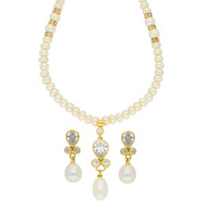 Jagdamba,Surat Diamonds,The Jewelbox Women's Clothing - Aloha Pearl Necklace ( JPSEP-18-60 )