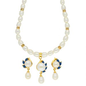 Jagdamba,Avsar,Lime,Valentine Women's Clothing - Affluent Pearl Necklace ( JPSEP-18-65 )