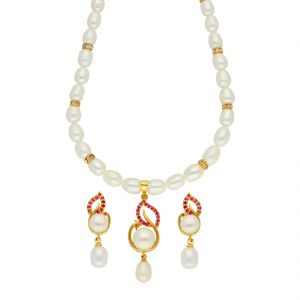 jagdamba,clovia,vipul,cloe Necklace Sets (Imitation) - Charismatic Pearl Necklace ( JPSEP-18-70 )