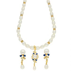 Jagdamba,Clovia,Sukkhi Women's Clothing - Elegance Pearl Necklace ( JPSEP-18-72 )