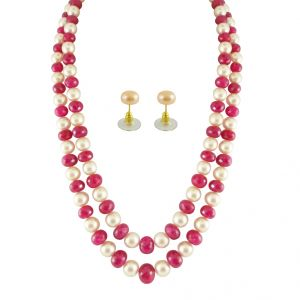 Asmi,Jagdamba Jewellery - JPEARLS PEARLS WITH RUBIES