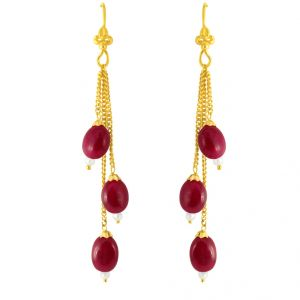 Jpearls Ruby Gold Hangings