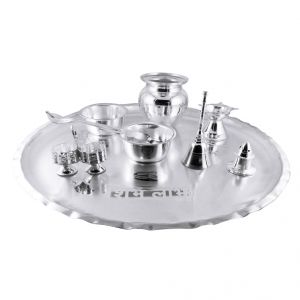 Jagdamba,Productmine Home Decor & Furnishing - Jpearls Auspicious Pooja Thali