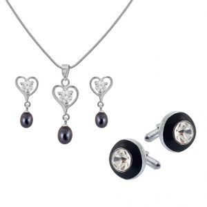 Avsar,Ag,Lime,Jagdamba,Sleeping Story Jewellery combos - Sri Jagdamba Pearls Priceless Couple Hamper - JPV-17-26