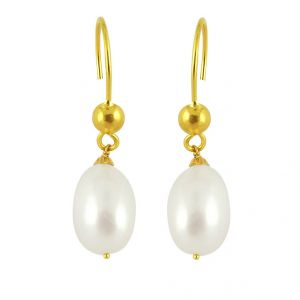 Avsar,Ag,Lime,Jagdamba Gold Jewellery - Jpearls White Beauty Gold Pearl Earrings