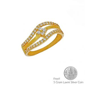 Sri Jagdamba Pearls Eminence Gold Finger Ring(code Lr 5645)