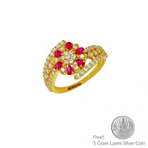 Sri Jagdamba Pearls Phenomenal Gold Finger Ring(code Lr 5697)
