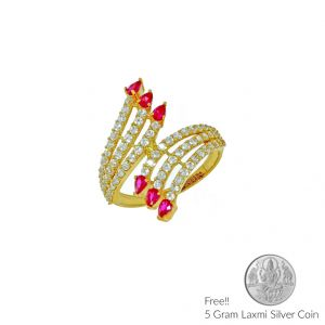 Jagdamba,Avsar,Lime Women's Clothing - Sri Jagdamba Pearls 22Kt Angelic Gold Finger Ring(Code LR 5699)