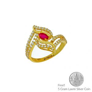 Gold Rings - Sri Jagdamba Pearls 22Kt Gold Finger Ring(Code LR 5707)