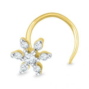 Jpearls 18kt Diamond Nose Pin