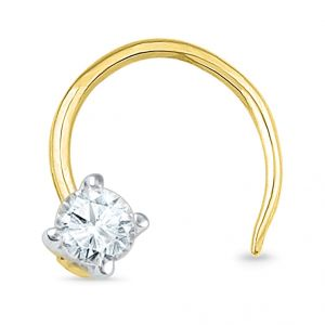 Jpearls 18 Kt Gold Diamond Nose Pin