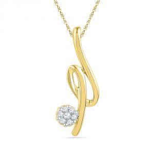 Jagdamba Silver Pendant Sets - Jpearls 0.040 Carat  Hansi Diamond Pendant