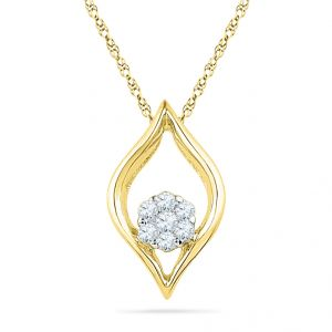 Jpearls Eye-ball Diamond Pendant