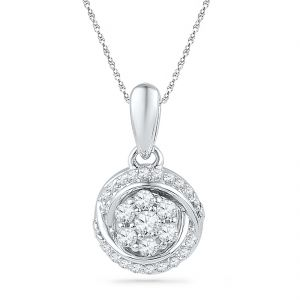 Jpearls 18 Kt Gold Awesome Diamond Pendant