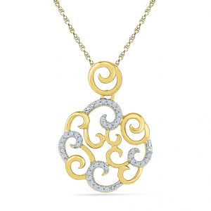 Sri Jagdamba Pearls Queen Anne Diamond Pendant Code Pf021127