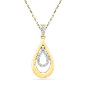 Sri Jagdamba Pearls 18kt Gold Julie Diamond Pendant Code Pf022114