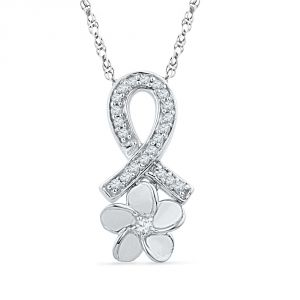 Jpearl Flower Diamond Pendant