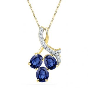Jagdamba Women's Clothing - Jpearls Showy Diamond Pendant