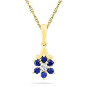 Sri Jagdamba Pearls Flower Shape Diamond Pendant ( Code-pf102542-lbs )