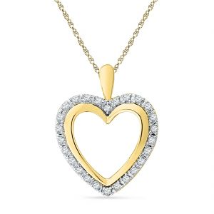 Jagdamba Jewellery - Jpearls 18 Kt Gold Valentines Day Sweet Love Diamond Pendant