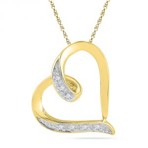 Jpearls 18 Kt Gold Darling Heart Diamond Pendant