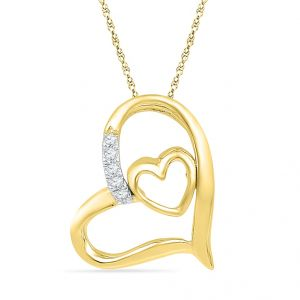 Jpearls Stolen My Heart Diamond Pendant