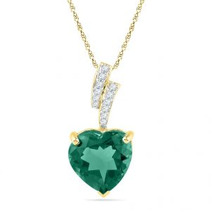 Jpearls 18kt Gold Heart Shape Diamond Pendant