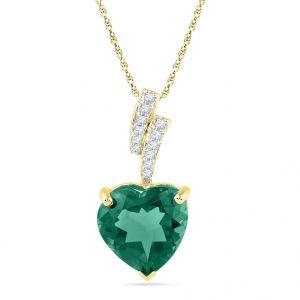 Diamond Pendants, Sets - JPEARLS 18KT GOLD HEART SHAPE DIAMOND PENDANT