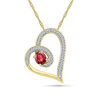 Sri Jagdamba Pearls Gorgeous Ruby Pendant ( Code-ph101052-lru )