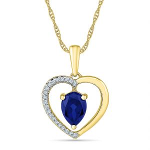 Sri Jagdamba Pearls Valuable Blue Sapphire Pendant ( Code-ph103300-lbs )