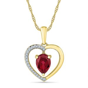 Sri Jagdamba Pearls Magic Ruby Pendant ( Code-ph103300-lru )