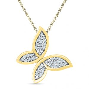 Sri Jagdamba Pearls Butterfly Diamond Shape Pendant Code Pl022241