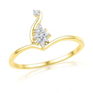 18kt Gold Royal Diamond Finger Ring