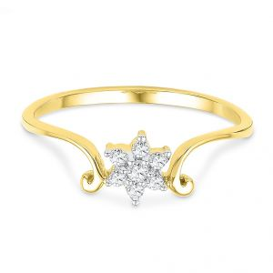 Jpearls 18kt Dezire Diamond Finger Ring
