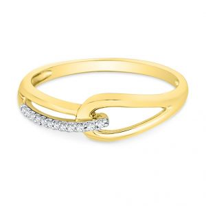 Jpearls 18kt Shower Of Love Diamond Finger Ring