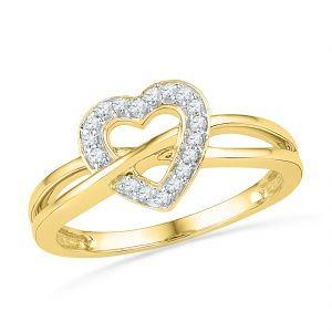 Jpearls 18 Kt Gold Ravish Heart Diamond Finger Ring