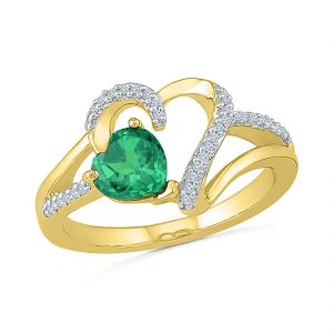 Sri Jagdamba Pearls Emerald Diamond Finger Ring ( Code-rh103469-lem )
