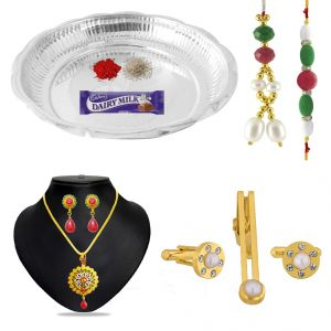 Traditional Couple Puja Thali Hamper Code-rkc-17-01