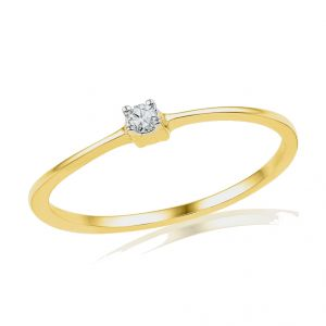 18kt Gold Classy Diamond Finger Ring