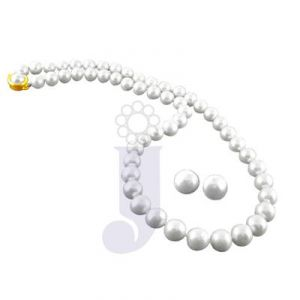 jagdamba,avsar,lime Pearl Necklaces - jpearls kutty necklace
