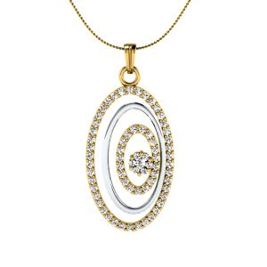 Sri Jagdamba Pearls 18 Kt Gold 0.56 Carat Blushing Diamond Pendant-sdls14461