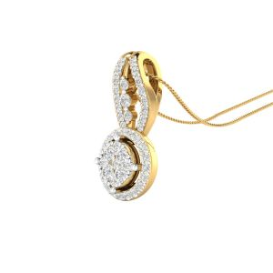 Sri Jagdamba Pearls 18 Kt Gold 0.52 Carat True Hearts Diamond Pendant-sdls14715