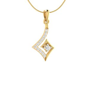 Sri Jagdamba Pearls 18 Kt Gold 0.12 Carat Heavenly Diamond Pendant-sdls14717