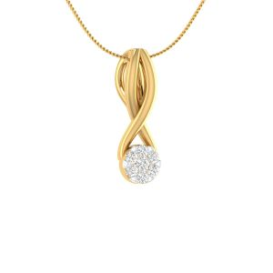 Sri Jagdamba Pearls 18 Kt Gold 0.09 Carat Lovely Diamond Pendant-sdls14719