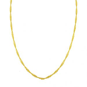 Jpearls Twisted Disco Gold Chain