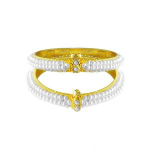 Jagdamba Floral Pearl Bangle