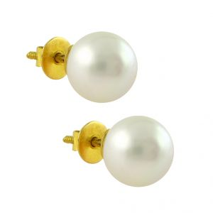 Jpearls Stunning Pearl Gold Earrings