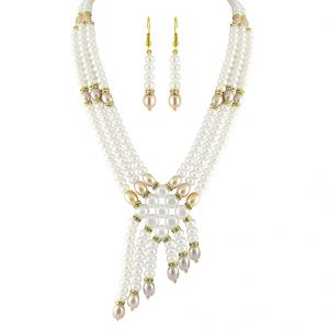 Jpearls 3 String Pearl Necklace Set - Sjpjl-505