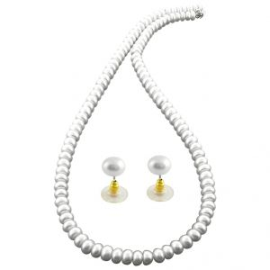 Jagdamba,Kalazone,Jpearls,Surat Diamonds,Asmi,Sleeping Story Women's Clothing - jpearls simply the pearl necklace